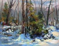 Last Snow - Oil 16 x 20