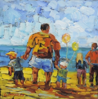 Father's Day at the Beach by Lucy Manley
