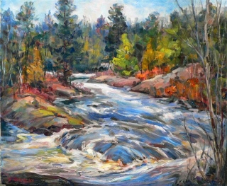 Madawaska Rapids by Lucy Manley