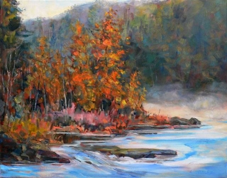 Mist on the Madawaska by Lucy Manley