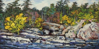 Burleigh Falls in November by Lucy Manley
