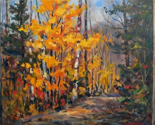 Yellow Maples by Lucy Manley