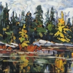 Gray Day Tamaracks by Lucy Manley