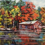 Boat Houses on the Magnetawan by Lucy Manley