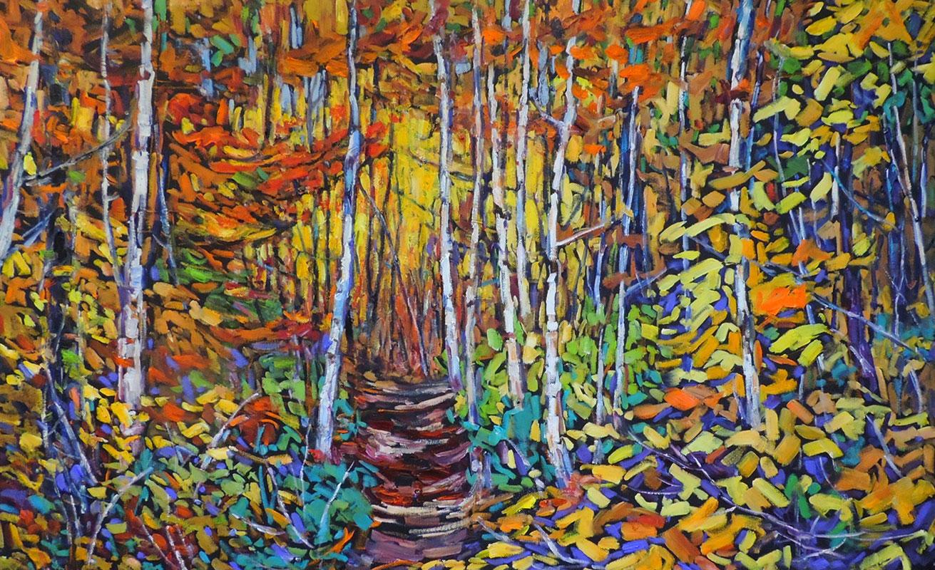 A Walk in the Birch Grove
