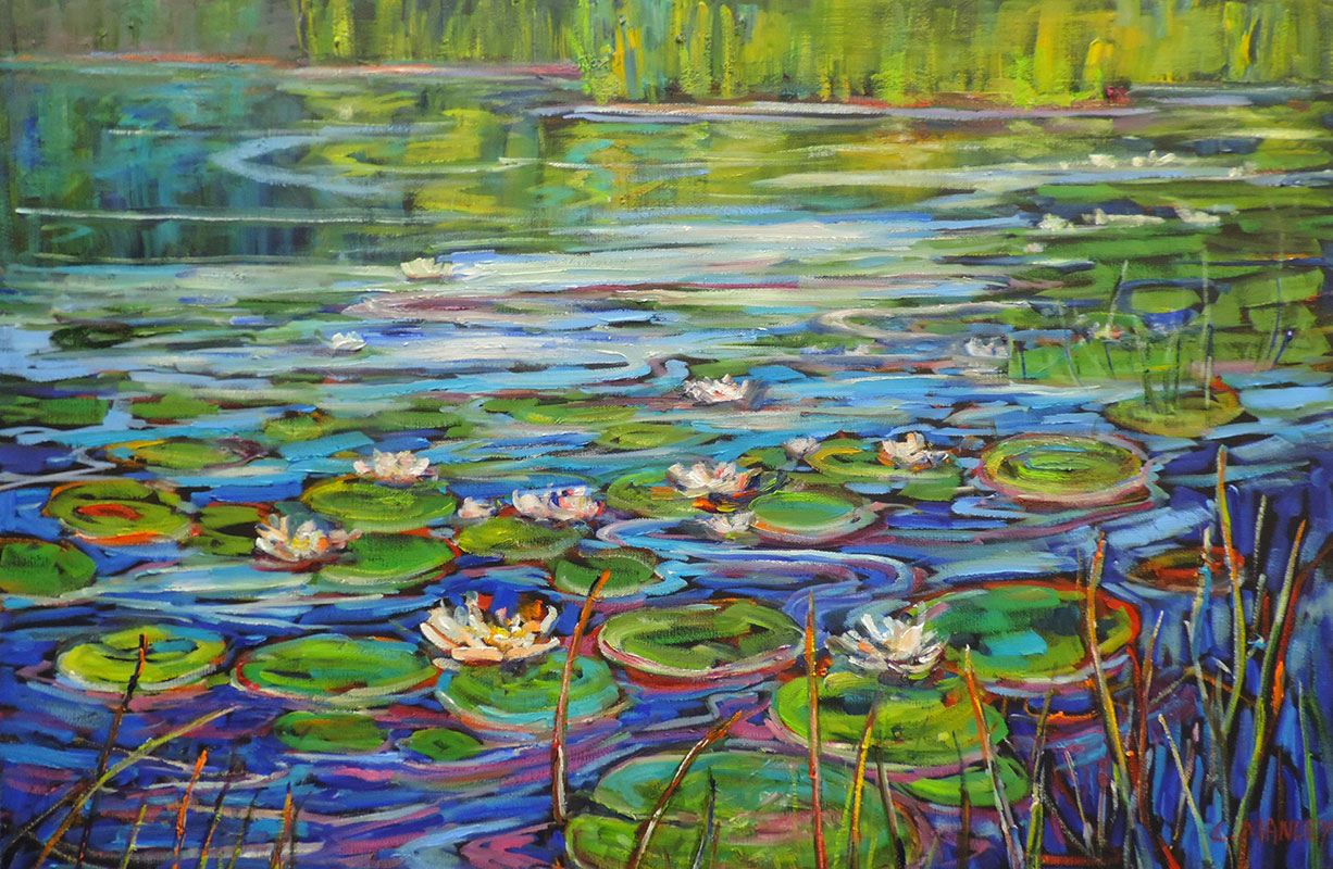 Waterlilies in White