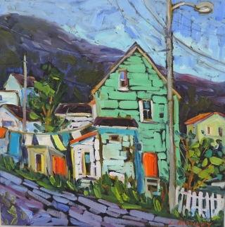 The Green House, Petty Harbour by lucy Manley