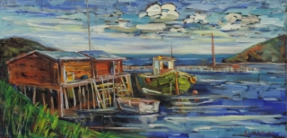 At Anchor, Petty Harbour by Lucy Manley