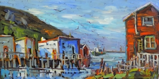 Coming into Harbour, Petty Harbour by lucy Manley