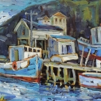 Bay Gliders, Petty Harbour by lucy Manley