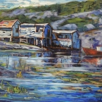 Fish Huts, Champney West by Lucy Manley