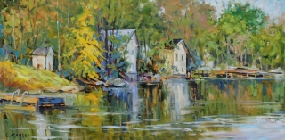 Springtime on the Otonabee by Lucy Manley