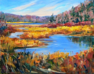 Madawaska River Marsh by Lucy Manley