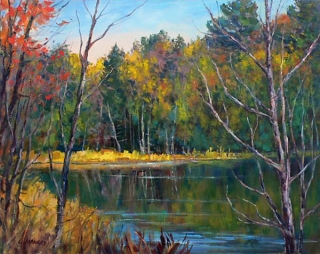 Quiet Waters Oil by Lucy Manley