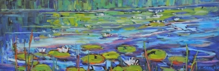 Sabine's Waterlilies by Lucy Manley