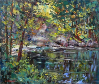Skootamatta River by Lucy Manley