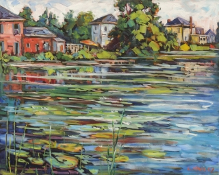 Lazy Summer Day, Belleville Harbour by Lucy Manley