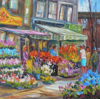 Flowers on Bloor by Lucy Manley
