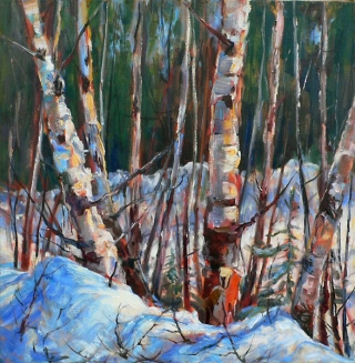 Sunlit Birches by Lucy Manley