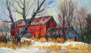 Red Barn by Lucy Manley
