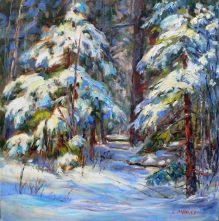 Snow Covered Spruce by Lucy Manley