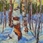 Birch Trunks by Lucy Manley