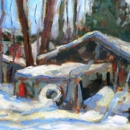 Snowbound Sheds by Lucy Manley