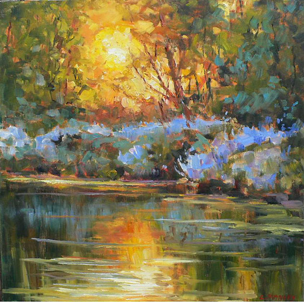 Sunset on Graham Creek #2 by Lucy Manley